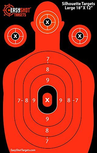 Silhouette Targets for Shooting Firearms (High-Visibility Fluorescent Orange). We Offer the Highest Quality Human Silhouette Gun Shooting Targets on Amazon for Close to Wholesale Prices. Easily See Your Shots on Impact with These Premium Shooting Range Targets! These Paper Silhouette Target Sheets Are Used and Recommended By Law Enforcement Officers Nationwide. EasyShot Targets http://www.amazon.com/dp/B011SXWRKS/ref=cm_sw_r_pi_dp_hb9twb0WJHF2S