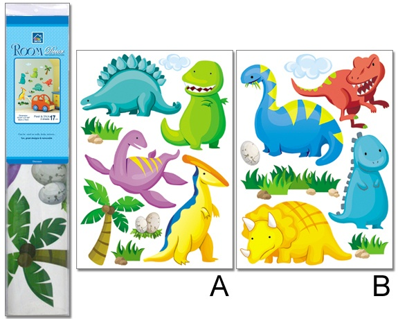 Huge nursery childrens bedroom dinosaur wall stickers ebay