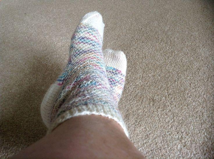 Cosy socks I made, #wscrafting @ whitestuff