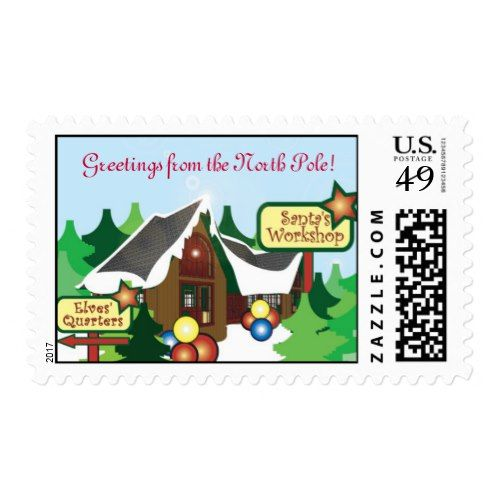 Santa's North Pole Postage Stamp