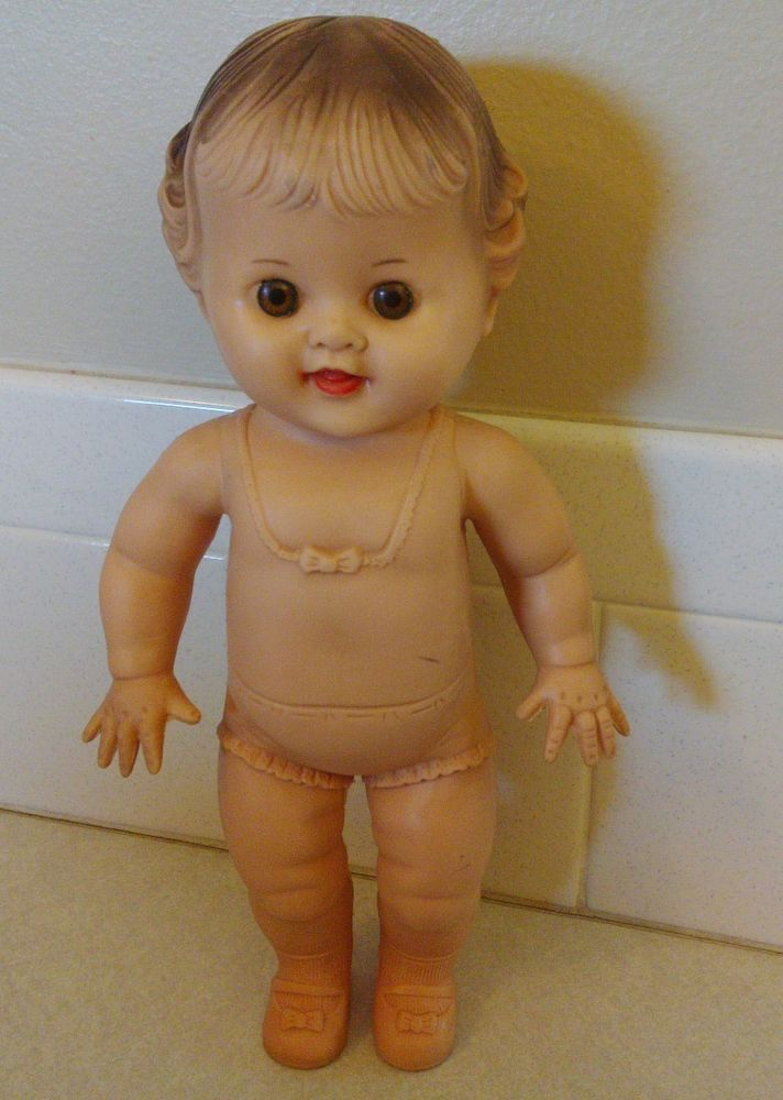 VINTAGE TOD-L-DEE SUN RUBBER COMPANY squeaker 10 INCH BABY DOLL