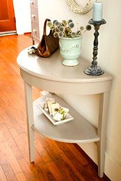 How to Build a Demilune Table  This accent piece will add style and elegance to your home.