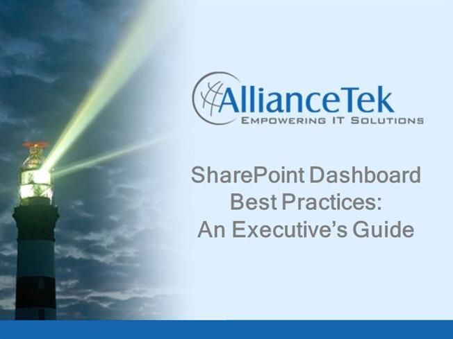 SharePoint Dashboard for Enhanced Business Intelligence by alliancetekinc via authorSTREAM