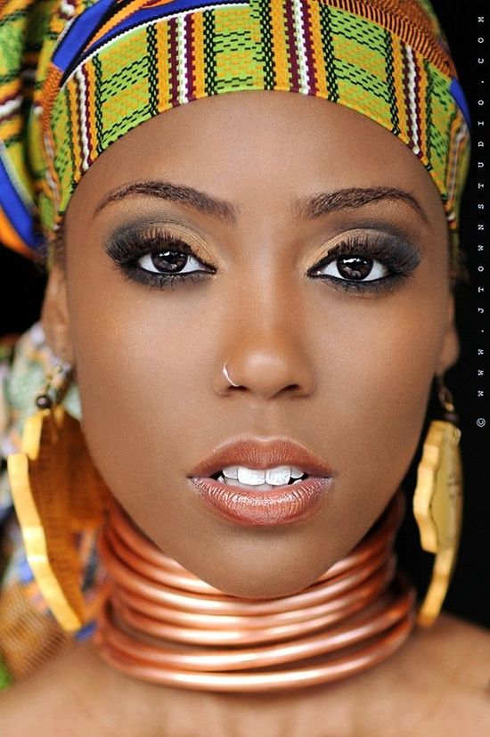 afro chic | Afro Chic. Nice make up