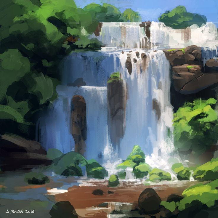 Daily Painting 20/50, Andreas Rocha on ArtStation at https://www.artstation.com/artwork/NoyEq