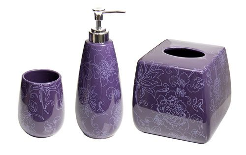Wenko Ponti Bathroom Accessories Set   Purple At Victorian Plumbing UK