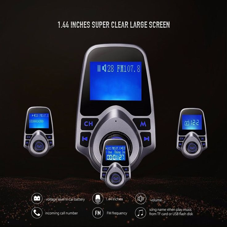 1.44 Inches Screen Car Kit MP3 Player Handsfree Calling FM Sales Online new - Tomtop.com