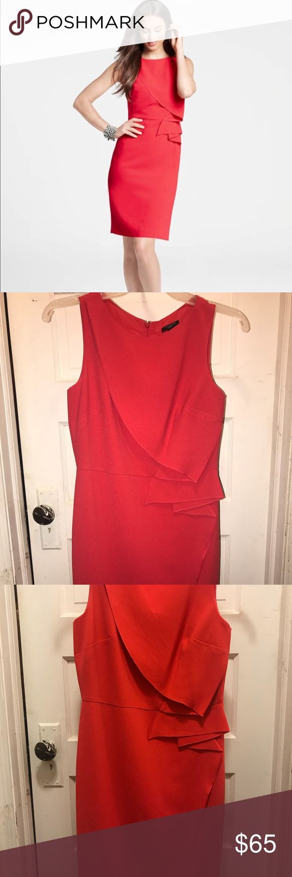 Ann Taylor petite crepe side drape sheath dress In great condition! Used once! Sold out online   Amazing dress to go out, weddings or special events Ann Taylor Dresses