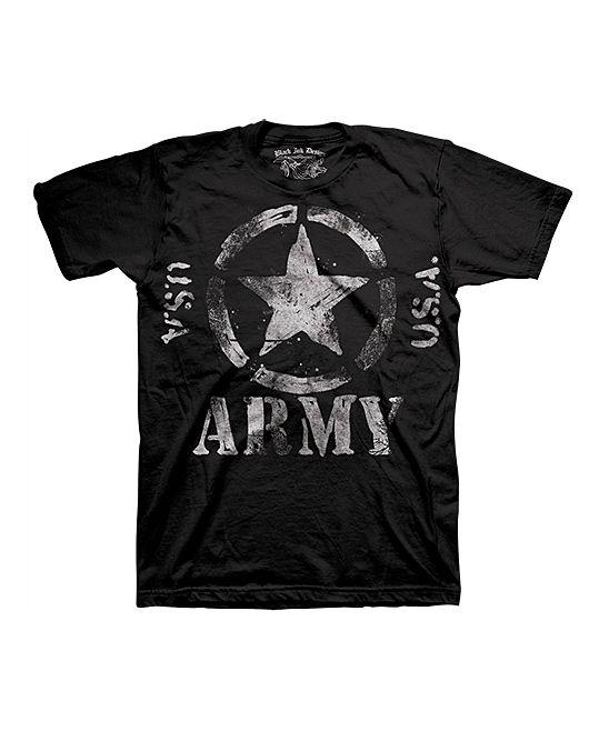 Black Classic USA Army Star Tee - Men's Regular