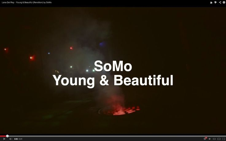 Lana Del Rey - Young & Beautiful (Rendition) by SoMo (+playlist)