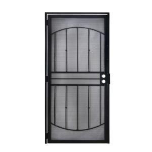Grisham, 36 in. x 80 in. 805 Series Black Defender Security Door, 80521 at The Home Depot - Mobile