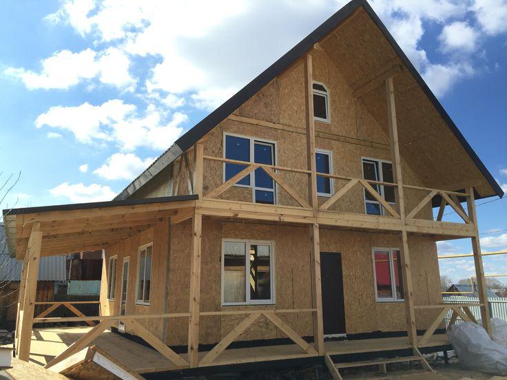 Внешний вид дома, готового к внутренней отделке.   Exterior of the house, ready for interior decoration.