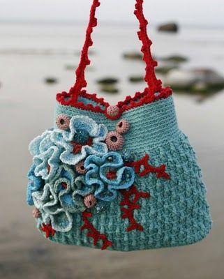 wonderful crochet bag: Coral Reef, Craft, Idea, Crochet Bags, Pattern, Things, Crocheted Bags, Crochet Purses