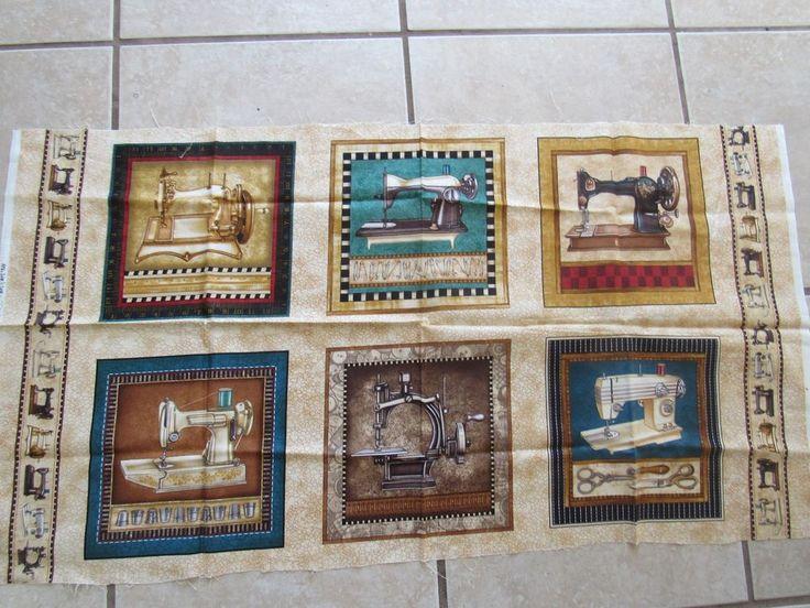 Sew & Sew by Dan Morris each block has a vintage sewing machine. #DanMorrisforRJRFabrics