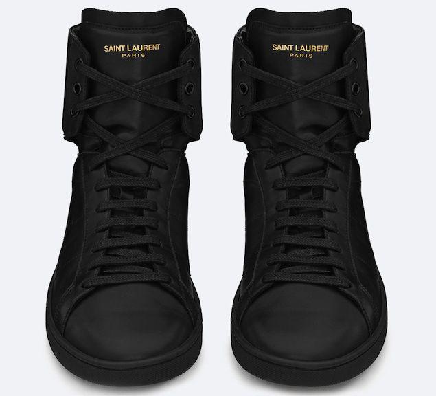 9891ab4635c ysl-saint-laurent-paris-men-sl01h-high-top-sneaker-in-black-leather-1 |  UpscaleHype | Sneaks | Saint laurent sneakers, Leather sneakers, Shoes