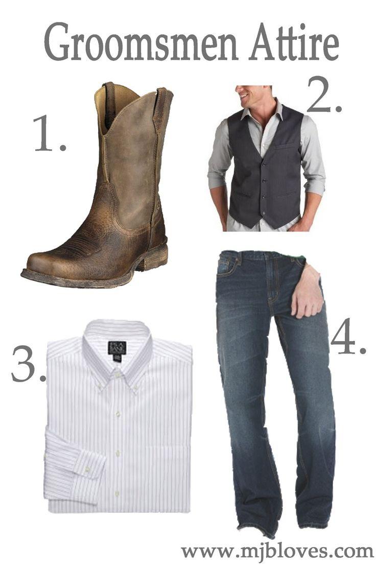 groomsmen wearing jeans   wedding wednesday : groomsmen wedding attire.