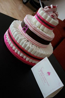 Free Baby Projects: Diaper Nappy Cake to Create