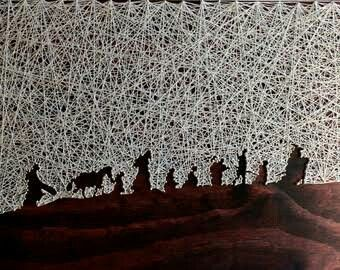 158 best string images on pinterest string art spikes and world map string art reverse string art by distantrealms sciox Gallery