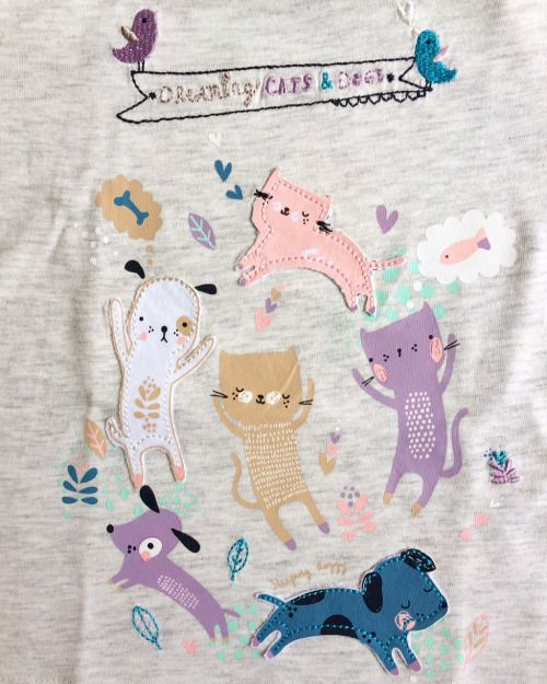 Dreaming Cats & Dogs One of my Paper & Cloth prints is on a pyjama set…