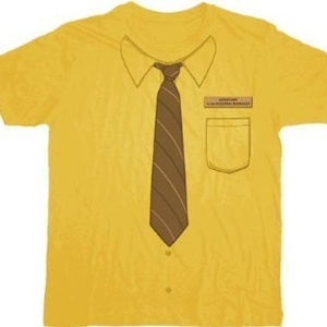 Dwight Mustard Shirt – #TheOffice      One of our personal favorites, Dwight's daily shirt he wears to the office. The Office Dwight Neck-Tie Work Shirt Mustard T-shirt Tee  $15.95 #GiftIdea