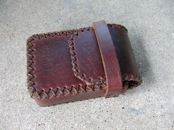 Leather Cigarette Case Handmade by ShoalCreekLeather on Etsy, $40.00