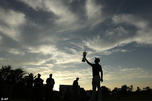 Dramatic View of Justin Rose winning the US Open! #golf #justinrose #usopen #pga #majorchampionship