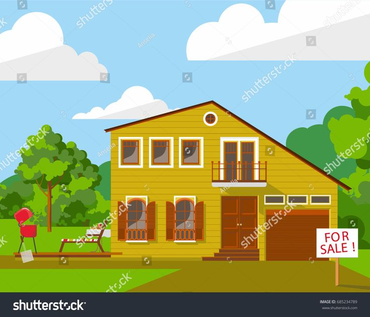 Family house vector illustration for web or promotional material