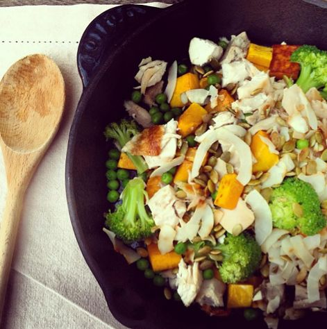 I Quit Sugar: Pumpkin and Pepita Hash with Roast Chicken