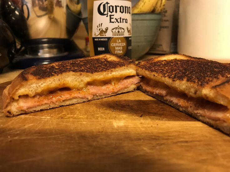 [Homemade] Gourmet Grilled Ham and Cheese