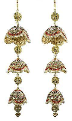 15 Amazing White Matching Crystal Pearl Indian Wedding Bridal Kaleera Kalira