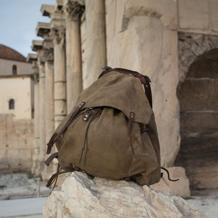 M39 Rucksack at Hadrians Library, Athens Greece by SwedishRucksack.com
