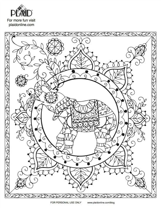 92 best Elephants images on Pinterest Coloring books, Print - best of complex elephant coloring pages
