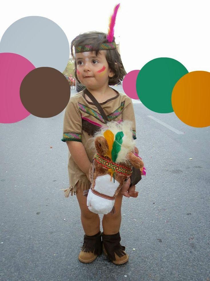 Disfraz de india niña. Desfile carrozas