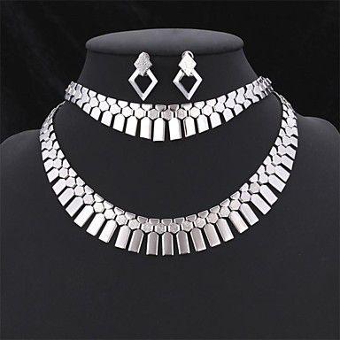 EUR € 24.99 - u7® africa jewely definir declaração gargantilha colar brincos pulseira definir 18k verdadeiro ouro, platina robusto jóias banhado, Frete Grátis em Todos os Gadgets!