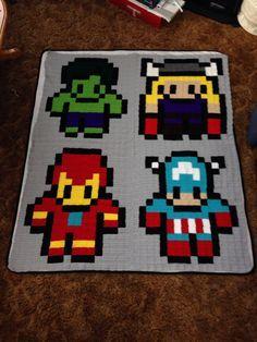 Avengers pixel Afghan.