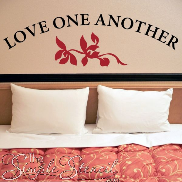 Love One Another With Flourish | Large Romantic Wall Quotes & 88 best Romantic Wall Art | Love Inspired Wall Quotes Decals ...