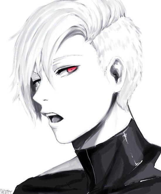 Kaneki Ken with a sidecut (Tokyo Ghoul)<<<<< hot as fuck