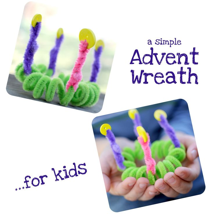 When Running Amok: An Advent Wreath Made by Kids for Kids