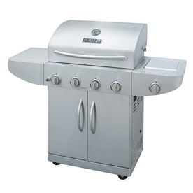 Master Forge�4-Burner (48000 BTU) Liquid Propane Gas Grill with Side Burner