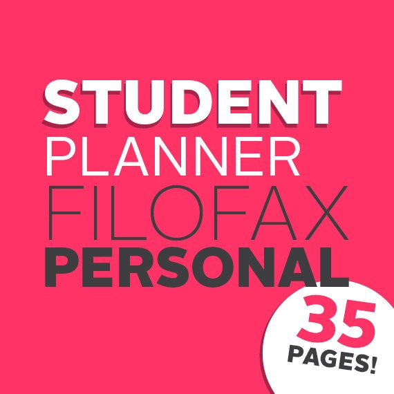Academic Student Planner / Student Planning Kit di whatshewas