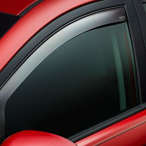 WeaterTech 70700 Series Light Smoke Front Side Window Deflectors - Side Window Deflectors WeatherTech(R) Side Window Deflectors, offer fresh air enjoyment with an original equipment look, installing within the window channel. They are crafted from the finest 3mm acrylic material available. Installation is quick and easy, with no exterior tape needed. WeatherTech(R) Side Window Deflectors are precision-machined to perfectly fit your vehicle's window channel. These low profile window…