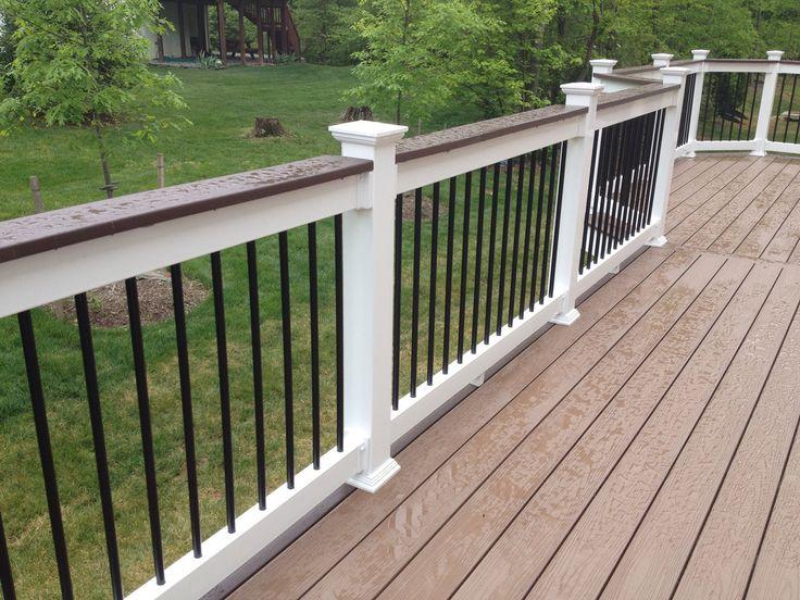 Shoreline Vinyl Handrail System Installed On This Fairfax