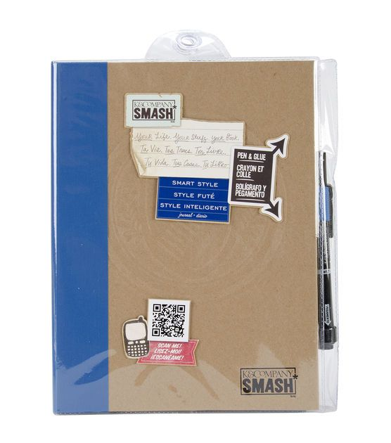 "14""x 11"" K & Company SMASH Folio Pocket Journal Book ... |Smash Folio Journal Kit"