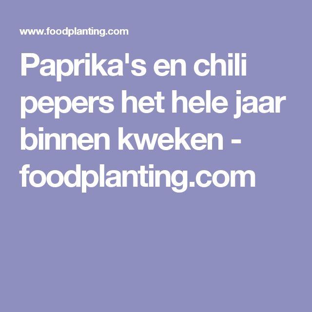 Paprika's en chili pepers het hele jaar binnen kweken - foodplanting.com