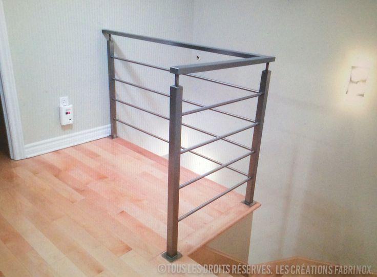 Rampes et garde-corps en acier inoxydable   Stainless steel railings and railings