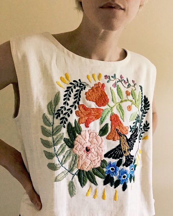Embroidery by Tessa Perlow. I am in lust with this!