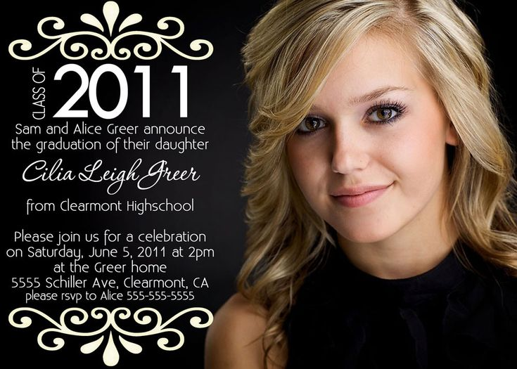 Graduation announcement, Ideas on how to make some for my sisters grad :)
