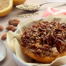 Baked Grapefruit With An Almond, Coconut, Crumble Topping [LyndseyEden] eat365.com.au