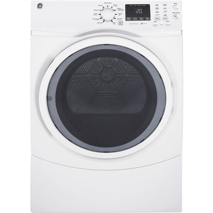 GE 7.5-cu ft Stackable Electric Dryer (White)