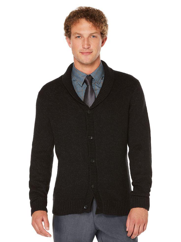 Perry Ellis 5 Button Shawl Collar Cardigan: 60% Cotton.40% Acrylic. Regular Fit. Shawl Collar. Long… #MensShirts #MensShoes #MensUnderwear